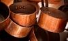 Copper pots and pans.