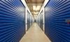 A hallway in a storage unit space.