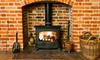 A stove fireplace.