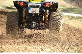 an ATV in the dirt