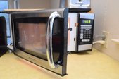 microwave door open