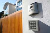 keypad on the side of a house