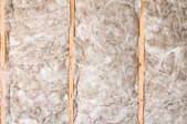 Insulation in a wall.