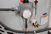 water heater with pipes