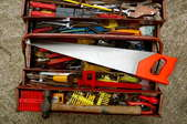 DIYer's toolbox and tools.