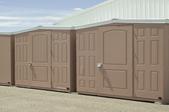 a row of sheds