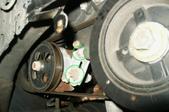 power steering belt in a car engine
