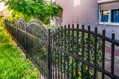 An aluminum fence.