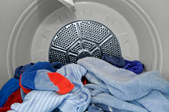 clothes in a clothes dryer