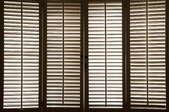 Wood shutters.