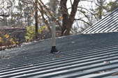 A vent in a roof for a drain-waste-vent system.