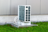 heat pump unit outside a building