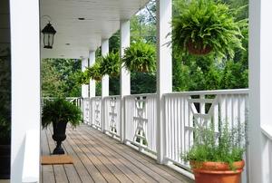Porch columns.