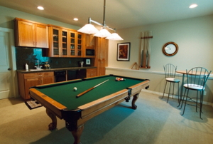 basement billiard room