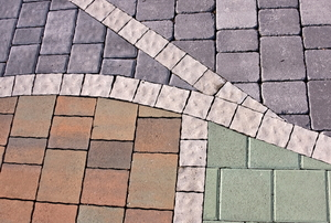 Paver stones in various colors.