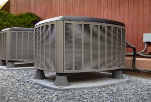 heating unit outside a house