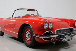 A red sports car.