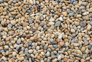 Pile of multicolored pea gravel