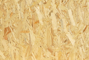The texture of OSB, or oriented strand board.