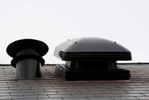 two roof vents that are side-by-side