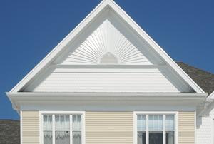 A hip roof.