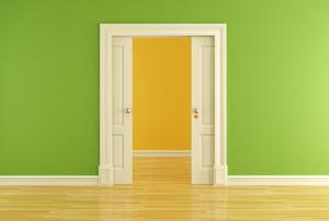 A pocket door.