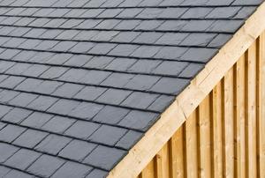 A slate roof.