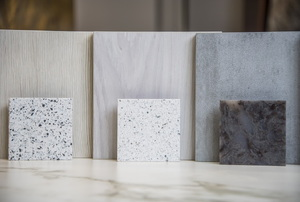 Several varieties of granite samples.