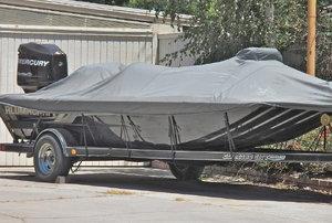 A boat trailer.