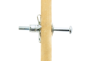 metal wall fastener embedded in a length of wood