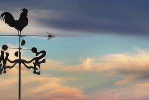 A weathervane.
