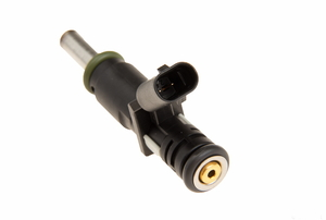 An isolated fuel injector on a white background.