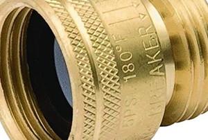 a metal valve