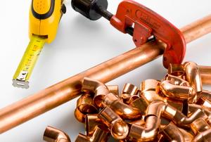 A copper pipe.