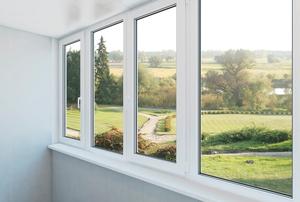 four long  vertical windows