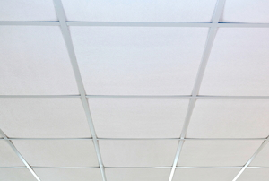 A suspended ceiling