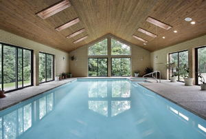 An indoor pool.