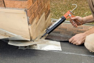caulking around roof flashing