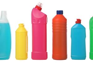 assorted detergent bottles