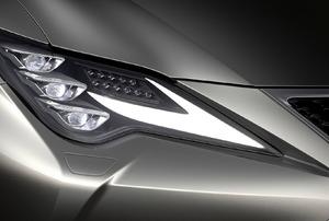 closeup of a Headlight