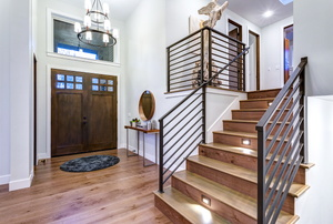 A home's foyer.