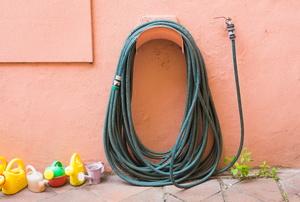 A hose reel.