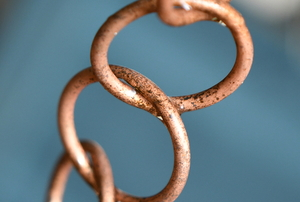 rain chain made from copper rings