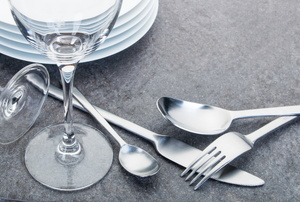 Stainless steel cutlery.