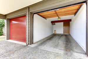 empty garage before conversion
