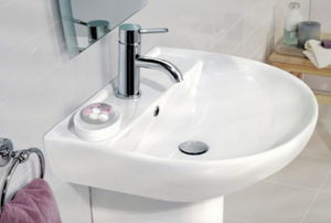 sink in a half bath