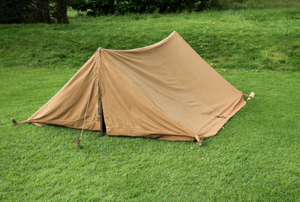 brown canvas tent