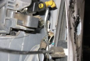 power lock inside a car door