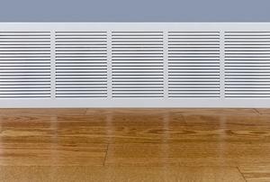 A baseboard heater.