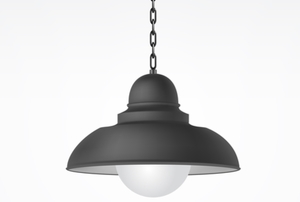 black hanging light